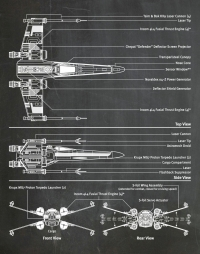 "Постер вініловий ""X-Wing Star Wars"""